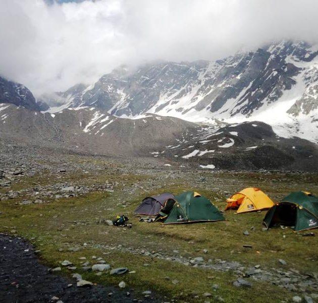 Kugti Pass Base Camp