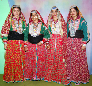 Tribal Gaddi Ladies in Traditional Dress